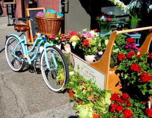 vancouver+yaletown+baby+blue+bike+flower+shop