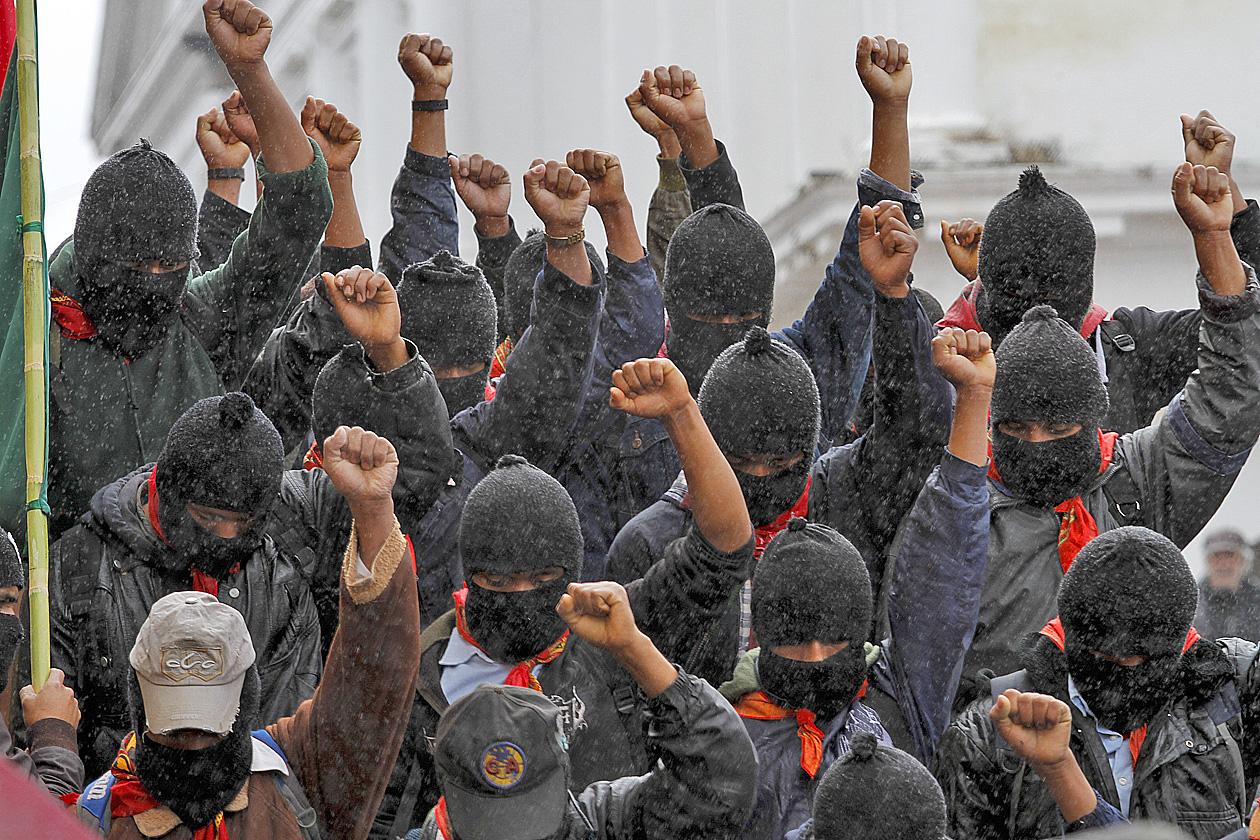 MARCHA EZLN SAN CRISTOBAL