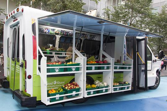 Mobile Good Food Market bus launch
