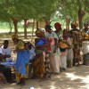 Guidan Roumdji, Maradi region, Niger  Distribution of Ready-to-Use Supplementary Food.  August 2010. <br />To prevent malnutrition, MSF is distributing ready-to-use supplementary food to children under two years old in Guidan Roumdji over a period of four months. A bracelet helps the distribution teams to identify those who must receive the supplement, which contains contain milk powder, mixed into peanut butter with added vitamins and minerals. Guidan Roumdji, Maradi region, Niger