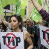 07/05/2016, Roma. La manifestazione contro il trattato su commercio e investimenti TTIP.