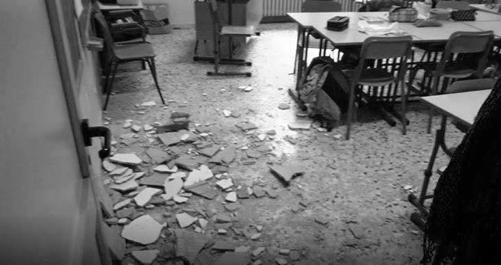 Torino, crolla il controsoffitto a scuola: ferita una bambina