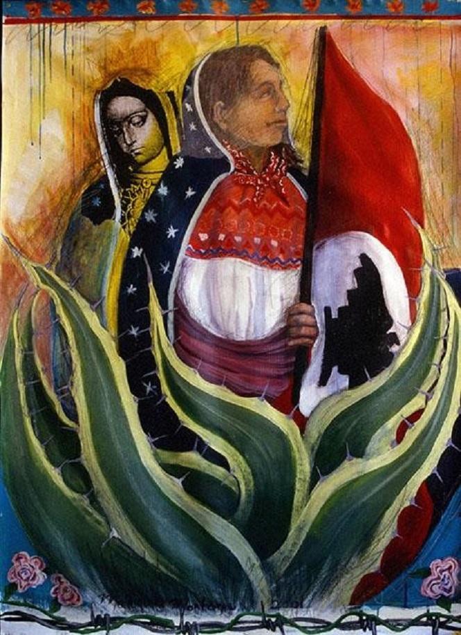 """Virgen Campesina"", dipinto da Malaquias Montoya nel 2001"