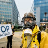"08/02/2017. Berlaymont building, Brussels, Belgium. Greenpeace activists, wearing protective clothing and masks, display a banner outside the European Commission that reads ""Stop Glyphosate."" Greenpeace and other environmental and health organisations are meeting in Brussels (as well as Madrid, Rome, Berlin and Paris) to launch a European Citizens' Initiative (ECI) to ban glyphosate, reform the EU pesticide approval process, and set mandatory targets to reduce pesticide use in the EU.   The goal is to collect at least one million signatures from Europeans and submit the petition before the Commission's next move to renew, withdraw or extend the EU licence of glyphosate. © Eric De Mildt / Greenpeace   IMAGE AVAILABLE FOR DOWNLOAD BY EXTERNAL MEDIA FOR 14 DAYS AFTER RELEASE. TERMS OF DELIVERY: NO THIRD PARTIES, NO RESALE, NO ARCHIVE, FOR EDITORIAL USE ONLY, NOT FOR MARKETING OR ADVERTISING CAMPAIGNS. CREDIT-LINE COMPULSORY"